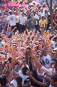 The crowd at the Good Times Sound System, Notting Hill Carnival, London UK 2005