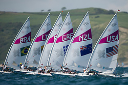 2012 Olympic Games London / Weymouth<br /> Racing day 1 Laser<br /> Laser RadialUSARailey Paige<br /> Laser RadialNZLWinther Sara