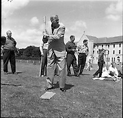 04/07/1961<br /> 07/04/1961<br /> 04 July 1961<br /> United States Embassy Fourth (4th) of July (Independence Day) Party in Navan, Co. Meath. U.S. Ambassador Edward Grant Stockdale prepares to bat in the baseball game.