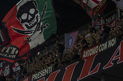 September 1, 2018 - Milan, Italy - Serie A football, AC Milan versus AS Roma; Milan supporters (Credit Image: © Gaetano Piazzolla/Pacific Press via ZUMA Wire)