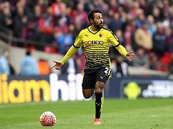 Ikechi Anya of Watford runs with the ball - Mandatory by-line: Robbie Stephenson/JMP - 24/04/2016 - FOOTBALL - Wembley Stadium - London, England - Crystal Palace v Watford - The Emirates FA Cup Semi-Final