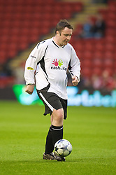 LIVERPOOL, ENGLAND - Thursday, May 14, 2009: Radio Merseyside's Lee Bennion during a match before the Hillsborough Memorial Charity Game at Anfield. (Photo by David Rawcliffe/Propaganda)