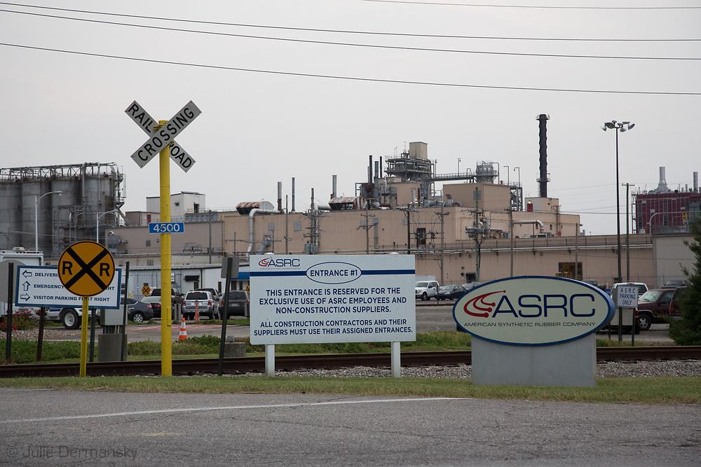 American Synthetic Rubber Company in Rubbertown in Louisville, Kentucky.