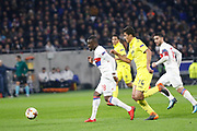 Tanguy Ndombele of Lyon and Rodrigo Hernández of Villarreal during the UEFA Europa League, Round of 32, 1st leg football match between Olympique Lyonnais and Villarreal on February 15, 2018 at Groupama stadium at Decines-Charpieu near Lyon, France - Photo Romain Biard / Isports / ProSportsImages / DPPI
