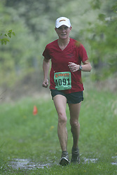 """(Kingston, Ontario---16/05/09) """"Shirley Myers finished 17 in the women's 10-12 km Enduro Race at the 2009 Salomon 5 Peaks Trail Running series Race held in Kingston, Ontario as part of the Eastern Ontario/Quebec division.""""  Copyright photograph Sean Burges/Mundo Sport Images, 2009. www.mundosportimages.com / www.msievents.com."""
