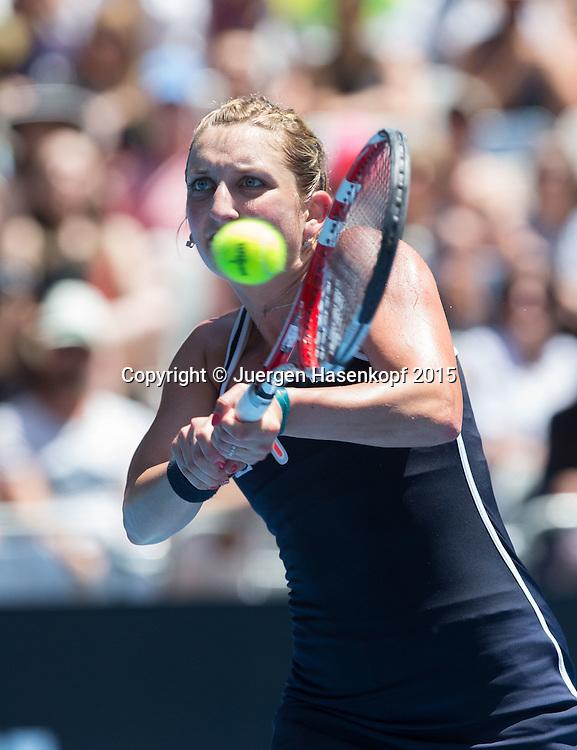 Timea Bacsinszky (SUI)<br /> <br />  - Australian Open 2015 -  -  Melbourne Park Tennis Centre - Melbourne - Victoria - Australia  - 24 January 2015. <br /> &copy; Juergen Hasenkopf