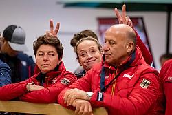 THEODORESCU Monica (Bundestrainer Dressur GER), WERTH Isabell (GER), HILBERATH Jonny ( Co Bundestrainer GER)<br /> Göteborg - Gothenburg Horse Show 2019 <br /> Vet-Check Dressurpferde<br /> Longines FEI Jumping World Cup™ Final and FEI Dressage World Cup™ Final<br /> 04. April 2019<br /> © www.sportfotos-lafrentz.de/Stefan Lafrentz