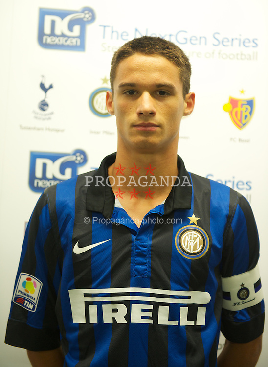LONDON, ENGLAND - Wednesday, August 31, 2011: Inter Milan's captain Andrea Romano before the NextGen Series Group 4 match against Tottenham Hotspur at Brisbane Road. (Pic by Chris Brunskill/Propaganda)