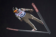 Poland, Wisla Malinka - 2017 November 18: Jan Ziobro from Poland soars in the air during FIS Ski Jumping World Cup Wisla 2017/2018 - Day 1 at jumping hill of Adam Malysz on November 18, 2017 in Wisla Malinka, Poland.<br /> <br /> Mandatory credit:<br /> Photo by © Adam Nurkiewicz<br /> <br /> Adam Nurkiewicz declares that he has no rights to the image of people at the photographs of his authorship.<br /> <br /> Picture also available in RAW (NEF) or TIFF format on special request.<br /> <br /> Any editorial, commercial or promotional use requires written permission from the author of image.