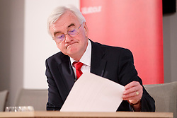 © Licensed to London News Pictures. 19/05/2017. London, UK. Shadow Chancellor JOHN MCDONNELL and Shadow Business Secretary Rebeca Long-Bailey hold a press conference to oppose pledges made in Conservatives manifesto that threatens living standards of pensioners and working people on Friday, 19 May 2017 in central London. Photo credit: Tolga Akmen/LNP