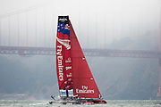 Emirates Team New Zealand in the second fleet race of the  America's Cup World Series, San Francisco. 23/8/2012