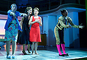 Pedro Almodovar's<br /> Women on the Verge of a nervous breakdown The Musical <br /> at the Playhouse Theatre, London, Great Britain <br /> press photocall<br /> 23rd December 2014 <br /> <br /> <br /> <br /> <br /> Haydn Gwynne as Lucia <br /> Tamsin Greig as Pepa <br /> <br /> <br /> Photograph by Elliott Franks <br /> Image licensed to Elliott Franks Photography Services