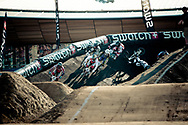 #91 (WILLOUGHBY Sam) leading in his heat during the 2011 UCI BMX Supercross World Cup in London