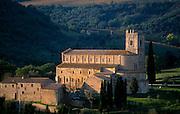 Sant'Antimo abbey.