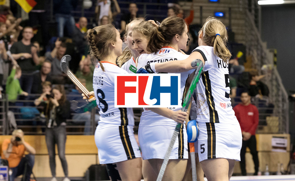 BERLIN - Indoor Hockey World Cup<br /> SF2 Belarus - Germany<br /> foto: <br /> WORLDSPORTPICS COPYRIGHT FRANK UIJLENBROEK