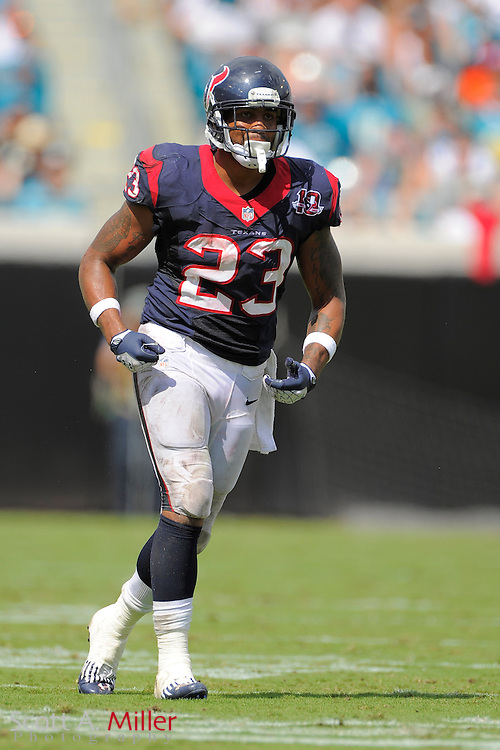 Houston Texans running back Arian Foster (23) during the NFL game between the Texans and the Jacksonville Jaguars, at EverBank Field on September 16, 2012 in Jacksonville, Florida. The Texans won 27-7...©2012 Scott A. Miller.