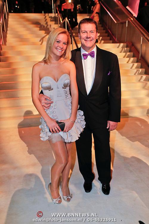 NLD/Amsterdam/20101209 - VIP avond Miljonairfair 2010, Bertus Holkema en dochter