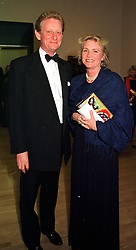 MR & MRS DAVID VEREY he is chairman of The Tate gallery, at a dinner in London on 1st November 1999.MYJ 27