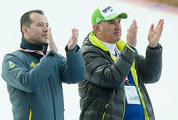 Enzo Smrekar and Ljubo Jasnic during the Ski Flying Individual Competition at Day 2 of FIS World Cup Ski Jumping Final, on March 20, 2015 in Planica, Slovenia. Photo by Vid Ponikvar / Sportida