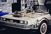 A DeLorean sits waiting for the next adventure. Armageddon Melbourne, 2012