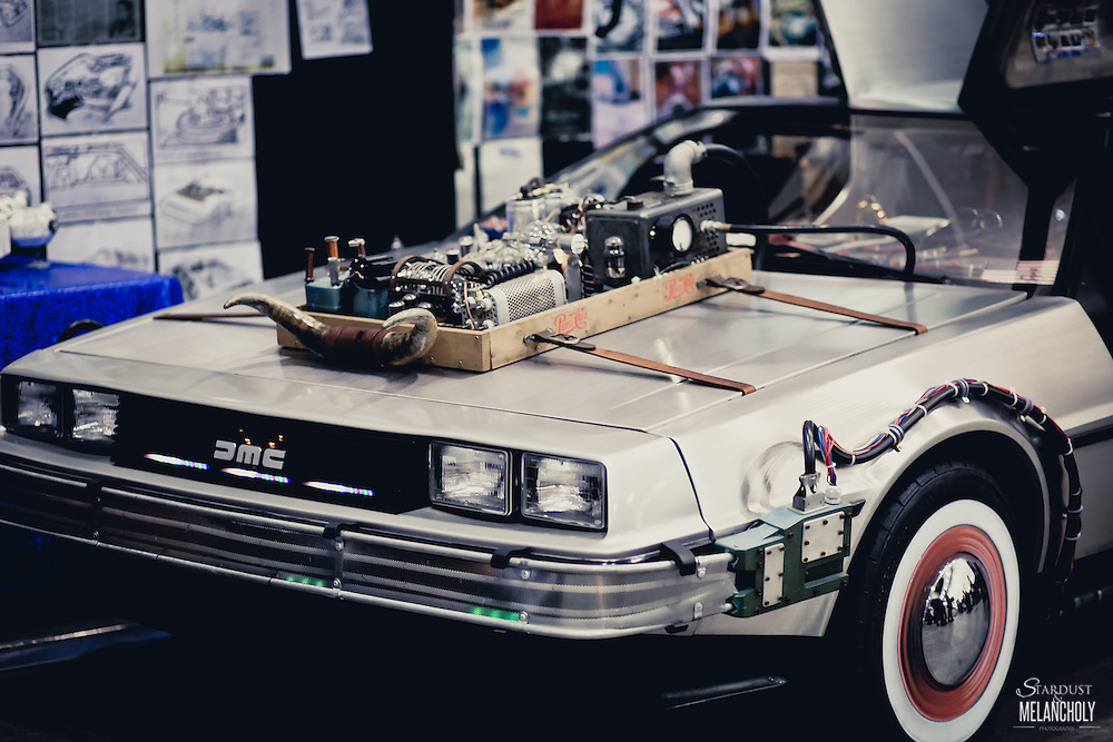 A DeLorean sits waiting for the next adventure. Armageddon Melbourne, 2012