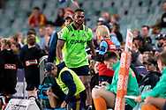 SYDNEY, NSW - MAY 19: Highlanders player Tevita Nabura upset after being sent off after an incident with Waratahs player Cameron Clark at week 14 of the Super Rugby between The Waratahs and Highlanders at Allianz Stadium in Sydney on May 19, 2018. (Photo by Speed Media/Icon Sportswire)