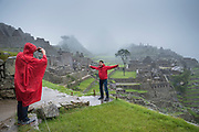 A rainy day does nothing to lessen the spectacularness of Machu Picchu or the joy of being there.