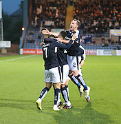 Greg Stewart is congratulated after scoring - Dundee v Hamilton, Ladbrokes Premiership at Dens Park<br /> <br />  - &copy; David Young - www.davidyoungphoto.co.uk - email: davidyoungphoto@gmail.com