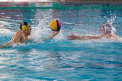 Nenad Cernenka of ASD Koper vs Cedomir Todic of AVK Triglav Kranj during water polo match between ASD Vaterpolo Koper and AVK Triglav Kranj in 4rd Round of Final of Slovenian Water polo National Championship, on June 23, 2012 in Olympic pool, Kranj, Slovenia. ASD Koper defeated Triglav Kranj 9-8. (Photo By Grega Valancic / Sportida.com)
