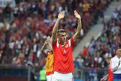 June 14, 2018 - Moscow, Russia - Russian Federation. Moscow. The Luzhniki Stadium. Match Opening of the World Cup 2018. Russia - Saudi Arabia. Solemn opening ceremony of the FIFA World Cup 2018. FIFA World Cup 2018. Player of the Russian national football team (in red)..Ilya Kutepov. (Credit Image: © Russian Look via ZUMA Wire)