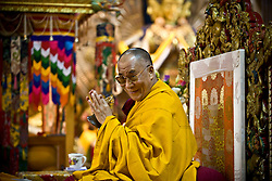 Dalai Lama attends morning prayer ceremony in Dharamsala, India, May 26, 2009.