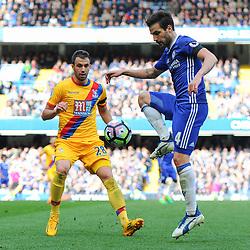 Cesc Fabregas of Chelsea controls the ball during Chelsea vs Crystal Palace, Premier League , 01.04.17 (c) Harriet Lander | SportPix.org.uk