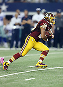 Washington Redskins running back Roy Helu (29) runs the ball during the NFL week 6 football game against the Dallas Cowboys on Sunday, Oct. 13, 2013 in Arlington, Texas. The Cowboys won the game 31-16. ©Paul Anthony Spinelli