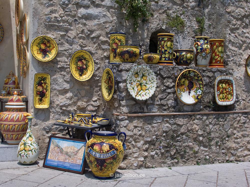 Gift, Handmade Ceramics, Ravello, Amalfi Coast; Campania, Italy, Europe, World Heritage Site