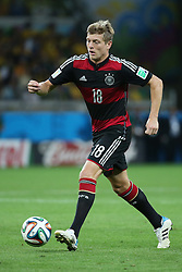 08.07.2014, Mineirao, Belo Horizonte, BRA, FIFA WM, Brasilien vs Deutschland, Halbfinale, im Bild Toni Kroos (GER) // during Semi Final match between Brasil and Germany of the FIFA Worldcup Brazil 2014 at the Mineirao in Belo Horizonte, Brazil on 2014/07/08. EXPA Pictures © 2014, PhotoCredit: EXPA/ Eibner-Pressefoto/ Cezaro<br /> <br /> *****ATTENTION - OUT of GER*****