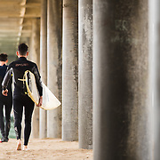 Huntington Beach surfers photographed in the morning on April 26, 2018. (Photo by Leah Seavers/ Sports Shooter Academy )<br /> <br /> Photo by Leah Seavers/ Sports Shooter Academy