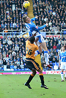 Birmingham city v Wolves,Championshipe ,18-11-2006,Birminghams Nicklas Bendtner( R) and Wolves Mark Little.