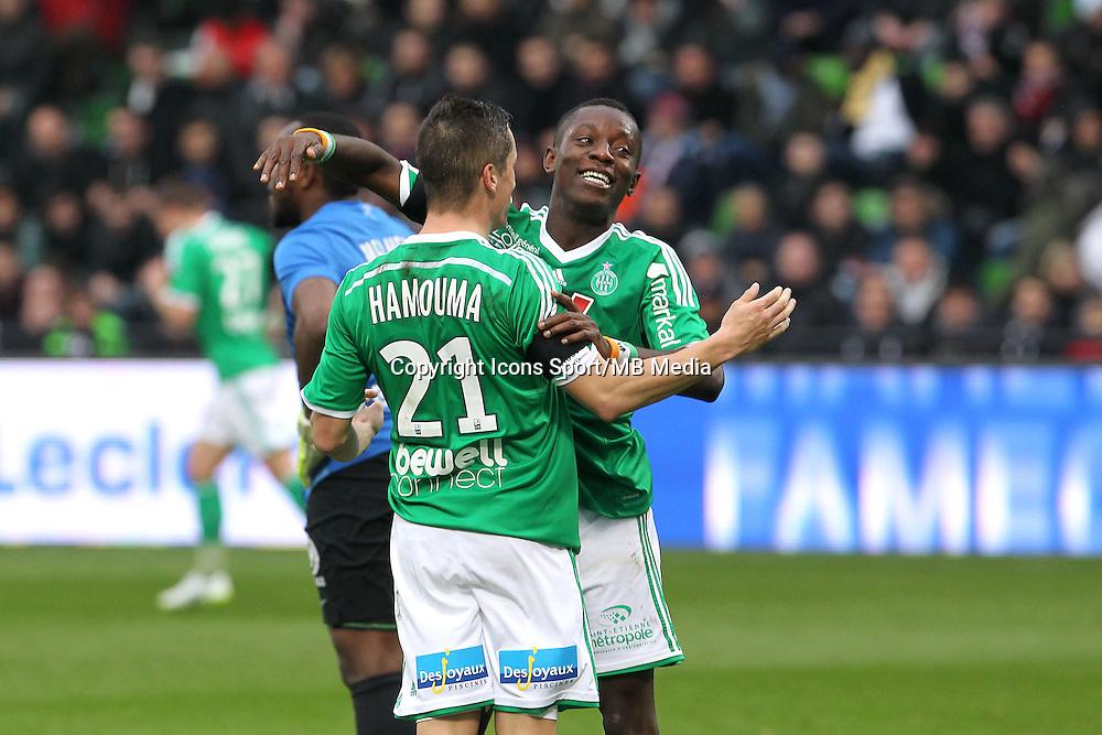 Joie Saint Etienne - Romain HAMOUMA / Max GRADEL - 14.03.2015 - Metz / Saint Etienne - 29e journee Ligue 1<br /> Photo : Fred Marvaux / Icon Sport