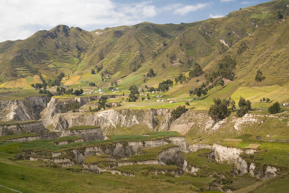 South America, Ecuador, eroded canyons near Zumbahua