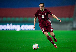 Raivis Jurkovskis  of Latvia during the 2020 UEFA European Championships group G qualifying match between Slovenia and Latvia at SRC Stozice on November 19, 2019 in Ljubljana, Slovenia. Photo by Vid Ponikvar / Sportida