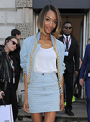 Model Jourdan Dunn at LFW S/S 2015  Somerset House in London, UK. 12/09/2014<br /> BYLINE MUST READ : GOTCHAIMAGES.COM<br /> <br /> Copyright by © Gotcha Images Ltd. All rights reserved.<br /> Usage of this image is conditional upon the acceptance <br /> of Gotcha Images Ltd, terms and conditions available at<br /> www.gotchaimages.com
