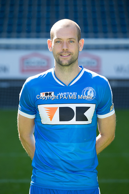 Gent's Nicklas Pedersen pictured during the 2015-2016 season photo shoot of Belgian first league soccer team KAA Gent, Saturday 11 July 2015 in Gent.