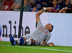 LONDON, ENGLAND - Monday, August 20, 2018: Liverpool's Roberto Firmino reacts during the FA Premier League match between Crystal Palace and Liverpool FC at Selhurst Park. (Pic by David Rawcliffe/Propaganda)