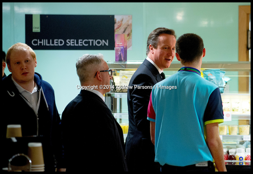 The Prime Minister David Cameron attend the Scottish Conservative Party Conference in Edinburgh, Scotland, Friday 14th March 2014. Picture by Andrew Parsons / i-Images