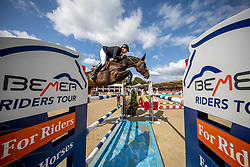 WINKELMANN Rupert Carl (GER), DOTS & DASHES<br /> Münster - Turnier der Sieger 2019<br /> MARKTKAUF - CUP<br /> BEMER-Riders Tour - Qualifier for the rating competition (comp no 11)  - Stechen<br /> CSI4* - Int. Jumping competition with jump-off (1.50 m) - Large Tour<br /> 03. August 2019<br /> © www.sportfotos-lafrentz.de/Stefan Lafrentz