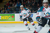 KELOWNA, CANADA - DECEMBER 30: Tyrell Goulbourne #12 of Kelowna Rockets skates against the Prince George Cougars on December 30, 2014 at Prospera Place in Kelowna, British Columbia, Canada.  (Photo by Marissa Baecker/Shoot the Breeze)  *** Local Caption *** Tyrell Goulbourne;