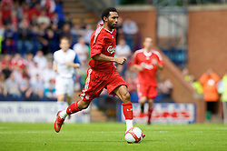 BIRKENHEAD, ENGLAND - Saturday, July 12, 2008: Liverpool's Jermaine Pennant during his side's first pre-season match of the 2008/2009 season against Tranmere Rovers at Prenton Park. (Photo by David Rawcliffe/Propaganda)