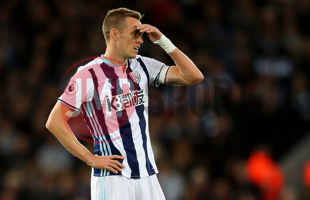 Darren Fletcher of West Bromwich Albion looks dejected - Mandatory by-line: Matt McNulty/JMP - 22/10/2016 - FOOTBALL - Anfield - Liverpool, England - Liverpool v West Bromwich Albion - Premier League