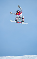 February 19, 2018 - Pyeongchang, South Korea - JESSIKA JENSON of the United States competes in Women's Snowboard Big Air  qualifications Monday, February 19, 2018 at the Alpensia Ski Jumping Centre at the Pyeongchang Winter Olympic Games. Jenson qualified for the finals. The sport is making it's first appearance as an Olympic sport. Photo by Mark Reis, ZUMA Press/The Gazette (Credit Image: © Mark Reis via ZUMA Wire)