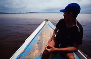Manaus. Cofluence of Rio Negro (front) and Rio Solimaes.